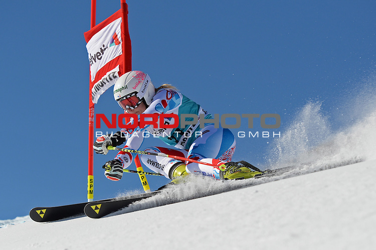 ST MORITZ, SWITZERLAND - DECEMBER 15: Taina Barioz of France during the Audi FIS Alpine Ski World Cup giant slalom race on December 15 2013 in St Moritz, Switzerland. <br /> Foto nph / Gunn