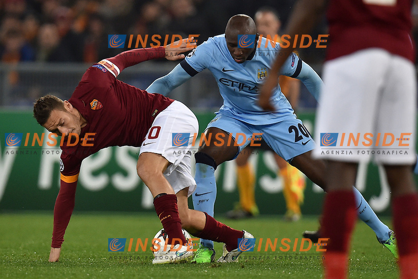 Francesco Totti Roma, Eliaquim Mangala Manchester <br /> Roma 10-12-2014 Stadio Olimpico, Football Champions League Group Stage Group E . AS Roma - Manchester City. Foto Andrea Staccioli / Insidefoto