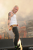The Prodigy - vocalist Keith Flint performing live as the Headline Act on Day Two on the Second Stage at the 2009 Download Festival at Donington Park UK - 13 Jun 2009.  Photo credit: George Chin/IconicPix