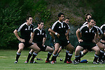 Mike Harris and the New Zealand Secondary Schools team pre game versus Australia at Auckland Grammar School on the 10th of October 2006. New Zealand won 18 - 8.<br />