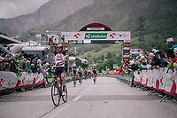 Diego Ulissi (ITA/UAE-Emirates) wins the uphill finish of stage 5<br /> <br /> Stage 5: Gstaad &gt; Leukerbad (155km)<br /> 82nd Tour de Suisse 2018 (2.UWT)