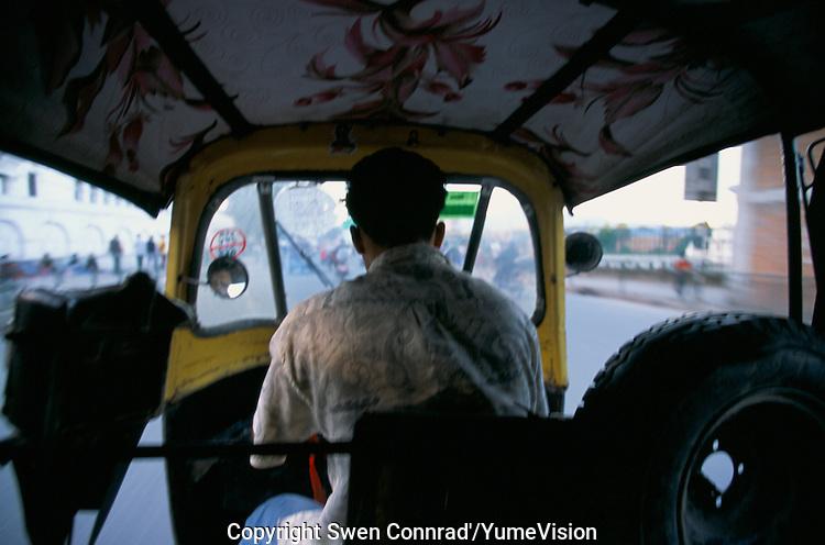 Riksho ride in Kathmandu city