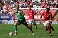 Cameron McGeehan of Scunthorpe United races upfield during Charlton Athletic vs Scunthorpe United, Sky Bet EFL League 1 Football at The Valley on 14th April 2018