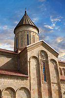 "Picture & image of Samtavisi Georgian Orthodox Cathedral, 11th century, Shida Karti Region, Georgia (country)<br /> <br /> Built during the so called 10-11th century ""Georgian Golden Era"" Samtavisi cathedral is a built in classical Georgian style of the period. Layout on a cruciform ground plan with a high central cylindrical central cupola."