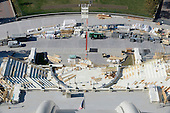 The Presidential Inauguration Stand is seen under construction from the top of the newly-restored Capitol Dome at the US Capitol in Washington, DC, November 15, 2016.  <br /> Credit: Olivier Douliery / Pool via CNP