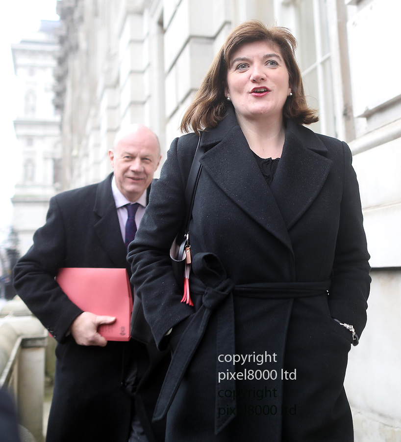 Pic shows: meetings over Brexit with Tory MP's at Downing Street today.<br /> <br /> Remainers Damian Green and Nicky Morgan<br /> <br /> <br /> <br /> <br /> pic by Gavin Rodgers/Pixel8000