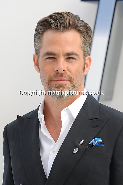 NON EXCLUSIVE PICTURE: PAUL TREADWAY / MATRIXPICTURES.CO.UK<br /> PLEASE CREDIT ALL USES<br /> <br /> WORLD RIGHTS<br /> <br /> American actor Chris Pine attending the UK Premiere of 'Star Trek Beyond' at Empire Leicester Square in London.<br /> <br /> July 12th 2016<br /> <br /> REF: PTY 162249