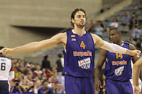 24.07.2012 Barcelona, Spain.  Pre-Olympic friendly game between Spain against USA at Palau St. Jordi. Picture shows Pau Gasol