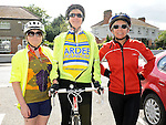 Marion Smith, Geraldine Lenihan and Bodna Sobanska who took part in the Ardee Cycle club Mystery cycle tour. Photo: Colin Bell/pressphotos.ie