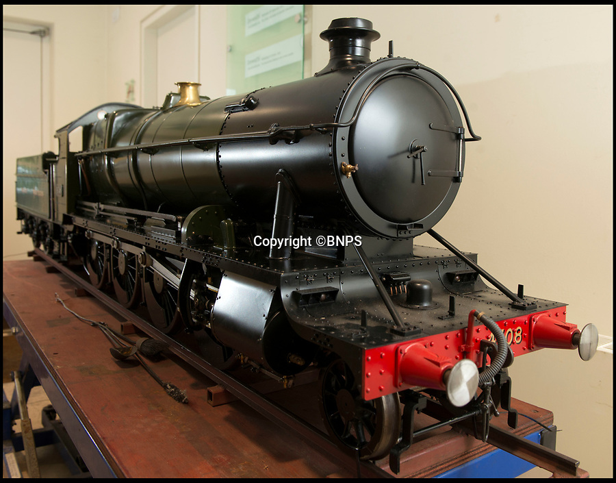 BNPS.co.uk (01202 558833)<br /> Pic: LeeMcLean/BNPS<br /> <br /> Full steam ahead - Incredible scale model locomotive, yours for £100,000.<br /> <br /> Two huge models of vintage steam trains have been put up for sale - for a whopping £200,000.<br /> <br /> The locomotives were hand made by legendary model builder David Aitken who paid incredible attention to detail when creating the scaled-down engines.<br /> <br /> He used original drawings based on the full size engines in order to replicate them in almost every detail.<br /> <br /> They have fully working boilers with a water and pressure gauges, safety and piston valves, lever operated firebox doors and brakes.<br /> <br /> They are being sold by auctioneers Dreweatts.