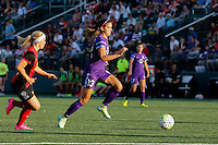 Rochester, NY - Saturday June 11, 2016: Western New York Flash midfielder Michaela Hahn (2), Orlando Pride forward Alex Morgan (13) during a regular season National Women's Soccer League (NWSL) match between the Western New York Flash and the Orlando Pride at Rochester Rhinos Stadium.