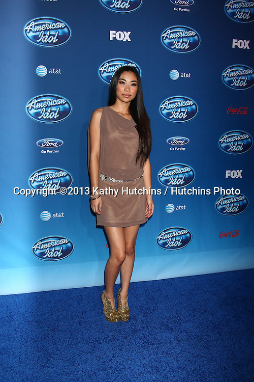 LOS ANGELES - JAN 9:  Jessica Sanchez attends the 'American Idol' Premiere Event at Royce Hall, UCLA on January 9, 2013 in Westwood, CA