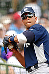 16 March 2007: New York Yankees third baseman Alex Rodriguez warms up prior to a game against the Houston Astros at Osceola County Stadium in Kissimmee, Florida...Mandatory Photo Credit: Ed Wolfstein Photo