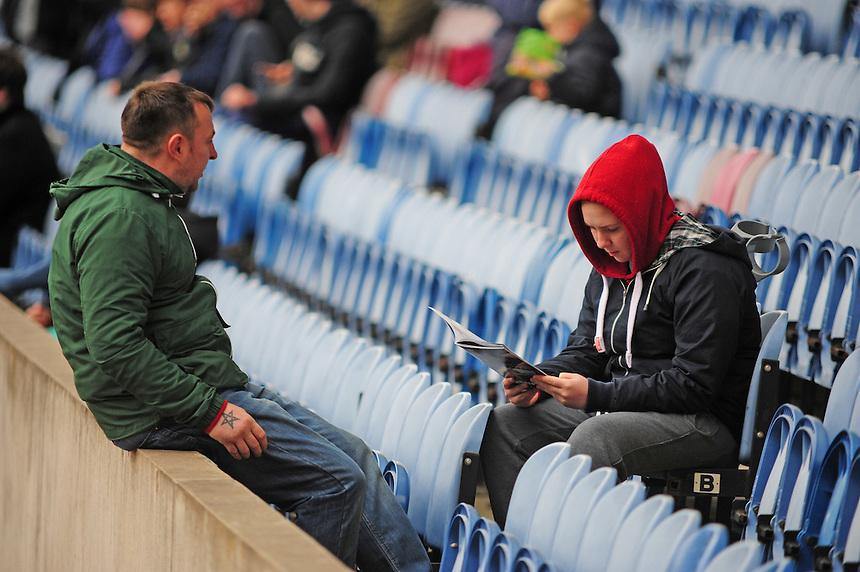 Burnley fans before kick off<br /> <br /> Photo by Chris Vaughan/CameraSport<br /> <br /> Football - The Football League Sky Bet Championship - Burnley v Middlesbrough - Saturday 12th April 2014 - Turf Moor - Burnley<br /> <br /> &copy; CameraSport - 43 Linden Ave. Countesthorpe. Leicester. England. LE8 5PG - Tel: +44 (0) 116 277 4147 - admin@camerasport.com - www.camerasport.com