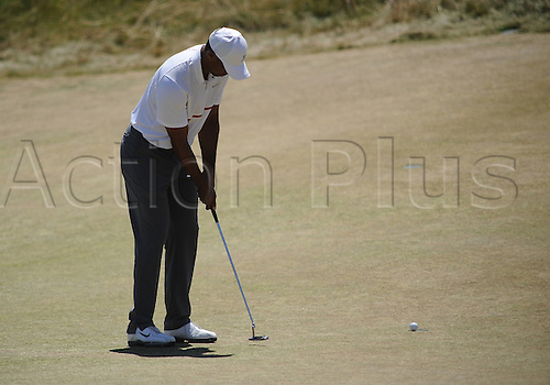 19.06.2015. Chambers Bay, University Place, WA, USA.  Tiger Woods during second round play at the 115th US Open at Chambers Bay, University Place, WA.