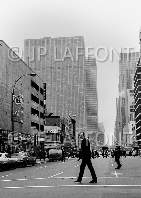 New York City. May 1969. Picture of Yves Montand around New York City. Yves Montand (October 13, 1921 - November 9, 1991) was an Italian-born French actor and singer, who was discovered by renown singer ´Edith Piaf, and is most known for his performance in the movie Jean de Florette.
