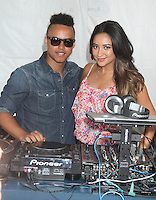 "NEW YORK CITY, NY-July 24 2012: Connor Cruise and Shay Mitchell attend the American Eagle Outfitters ""Live Your Life"" Campaign Launch at American Eagle Times Square Store in New York City. © RW/MediaPunch Inc. /NortePhoto.com<br />