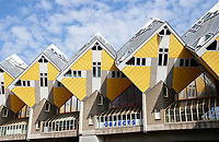 Nederland - Rotterdam - 26 maart 2018.  Kubuswoningen bij Blaak, ontworpen door Piet Blom. Foto Berlinda van Dam / Hollandse Hoogte