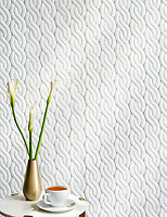 Cable Knit Large, a waterjet stone mosaic, shown in Venetian honed Dolomite, is part of the Palazzo collection by New Ravenna.