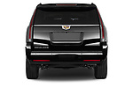 Straight rear view of a 2018 Cadillac Escalade ESV 2WD Luxury 5 Door SUV stock images