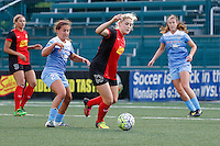 Rochester, NY - Friday July 01, 2016: Chicago Red Stars midfielder Danielle Colaprico (24), Western New York Flash defender Abigail Dahlkemper (13) during a regular season National Women's Soccer League (NWSL) match between the Western New York Flash and the Chicago Red Stars at Rochester Rhinos Stadium.