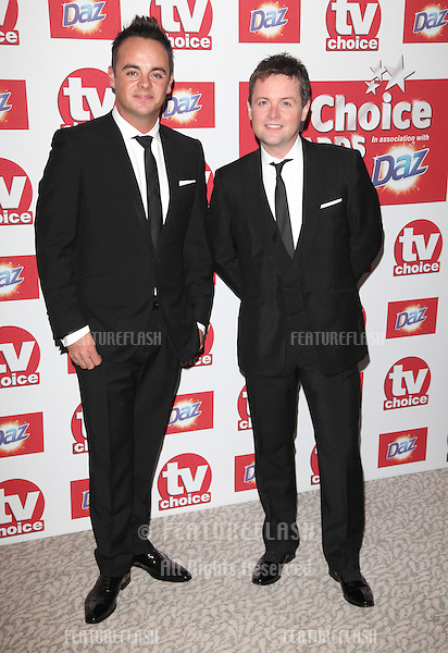 Ant and Dec arriving for the 2012 TVChoice Awards, at the Dorchester Hotel, London. 10/09/2012. Picture by:  Alexandra Glen / Featureflash