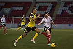 Clyde versus Edinburgh City, SPFL League 2 game at Broadwood Stadium, Cumbernauld. The match ended 0-0, watched by a crowd of 461. Photo shows City attacker Ousman See in action.