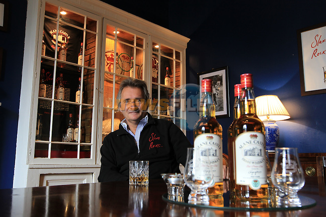 Lord Henry Mt. Charles with his Slane Castle Whiskey..Picture Fran Caffrey www.newsfile.ie..