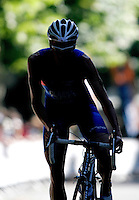 03 SEP 2006 - LAUSANNE, SWITZERLAND - Will Clarke climbs a hill during the under 23 mens Elite World Triathlon Championships. (PHOTO (C) NIGEL FARROW)