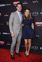 06 January 2018 - Beverly Hills, California - Justin Hartley, Chrishelle Stause. 2018 BAFTA Tea Party held at The Four Seasons Los Angeles at Beverly Hills in Beverly Hills.    <br /> CAP/ADM/BT<br /> &copy;BT/ADM/Capital Pictures