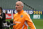19 November 2011: Head coach Dominic Kinnear. The Houston Dynamo held a practice session at the Home Depot Center in Carson, CA one day before playing in MLS Cup 2011.