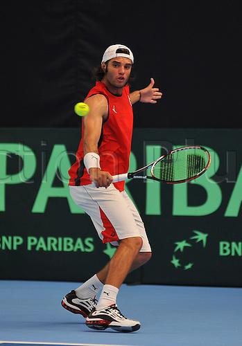 08.07.2011 Davis Cup Tennis from Dublin. Ireland v Tunisia. Malek Jaziri, Tunisia