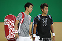 Kei Nishikori, Yuichi Sugita (JPN),<br /> AUGUST 3, 2016 - Tennis : <br /> Men's Singles Training session <br /> at Olympic Tennis Centre <br /> during the Rio 2016 Olympic Games in Rio de Janeiro, Brazil. <br /> (Photo by Yusuke Nakanishi/AFLO SPORT)