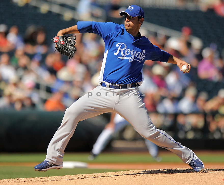 HORACIO RAMIREZ, of the Kansas City Royals, in action during the Royals game against the Texas Ranger on February 23, 2009 in Surprise, Arizona. The Rangers beat Royals 15-3