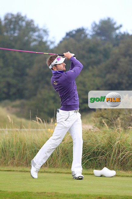 Jbe Kruger (RSA) on the 2nd tee during Round 4 of the KLM Open at Kennemer Golf &amp; Country Club on Sunday 14th September 2014.<br /> Picture:  Thos Caffrey / www.golffile.ie