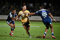 Nehe Milner-Skudder in action during the Super Rugby - Hurricanes v Blues at FMG Stadium, Palmerston North, New Zealand on Friday 13 March 2015. <br /> Photo by Masanori Udagawa. <br /> www.photowellington.photoshelter.com.