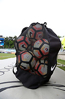 Cary, North Carolina  - Wednesday May 24, 2017: Practice balls prior to a regular season National Women's Soccer League (NWSL) match between the North Carolina Courage and the Sky Blue FC at Sahlen's Stadium at WakeMed Soccer Park. The Courage won the game 2-0.