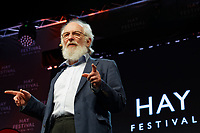 Pictured: David Crystal. Friday 31 May 2019<br /> Re: Hay Festival, Hay on Wye, Wales, UK.