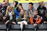 Wednesday, 23 April 2014<br /> Pictured: Swansea supporters on the stands.<br /> Re: Swansea City FC are holding an open training session for their supporters at the Liberty Stadium, south Wales,