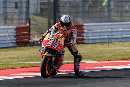 09.09.2016. Misano World Circuit, Rimini, Italy. MotoGP Grand Prix of San Marino. Free practise sessions. Marc Marquez (Repsol Honda) during the practice sessions.