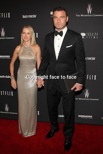Beverly Hills, California - January 12: Naomi Watts, Liev Schreiber at The Weinstein Company &amp; Netflix 2014 Golden Globes After Party on January 12, 2014 at The Beverly Hilton Hotel, California. <br />