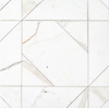 Axel Grand, a hand-cut stone mosaic, show in polished Calacatta Gold, is part of the Semplice® collection for New Ravenna.