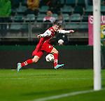 Nederland, Den Haag, 10 november 2012.Eredivisie.Seizoen 2012-2013.ADO Den Haag-AZ.Erik Falkenburg van AZ scoort de 0-1.