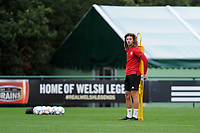 Ethan Ampadu in action during the Wales Training Session at The Vale Resort in Cardiff, Wales, UK. Monday 8 October 2018
