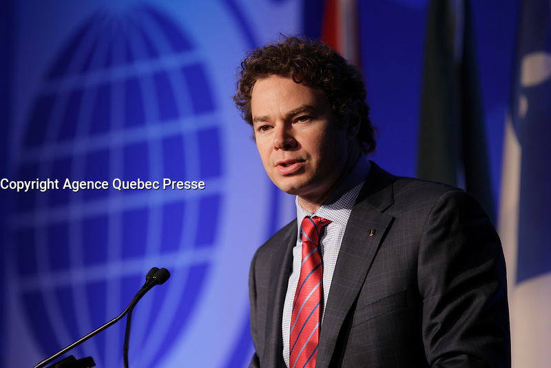 Louis Morisset, <br /> President and Chief Executive Officer, Autorit&eacute;e des marches F inanciers (AMF) <br /> attend the the 22nd edition of the Conference of Montreal, held June 13 to 15, 2016<br /> <br /> PHOTO : Pierre Roussel -  Agence Quebec Presse