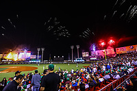 Aspects, during the opening ceremony of the Caribbean Series 2018 held at Charros de Jalisco Stadium in Guadalajara, Mexico, Friday, February 2, 2018. (AP Photo / Luis Gutierrez)