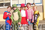 Pupils at Listellick National School came to school dressed as characters from their favourite books to mark World Book day last Thursday. .L-R Conor Horan, Darragh Hennessy, Natalia Szczdrowska, Mary Kate O'Connor and Luke Kavanagh