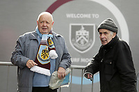 Burnley fans wait for the players to arrive at Turf Moor, home of Burnley Football Club<br /> <br /> Photographer Rich Linley/CameraSport<br /> <br /> The Premier League - Burnley v Huddersfield Town - Saturday 6th October 2018 - Turf Moor - Burnley<br /> <br /> World Copyright &copy; 2018 CameraSport. All rights reserved. 43 Linden Ave. Countesthorpe. Leicester. England. LE8 5PG - Tel: +44 (0) 116 277 4147 - admin@camerasport.com - www.camerasport.com