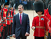 12.07.2017, London; UK: KING FELIPE AND QUEEN LETIZIA OF SPAIN STATE VISIT<br /> After a stormy arrival yesterday, the Royal couple enjoy a sunny day for their ceremonial welcome at the start of their 3-day State Visit.<br /> Queen Elizabeth officially welcomed the Spanish Royals with a ceremony at Horse Guards.<br /> Picture Shows: King Felipe inspecting a Guard of Honour at Horse Guards.<br /> Mandatory Credit Photo: &copy;MoD/NEWSPIX INTERNATIONAL<br /> <br /> IMMEDIATE CONFIRMATION OF USAGE REQUIRED:<br /> Newspix International, 31 Chinnery Hill, Bishop's Stortford, ENGLAND CM23 3PS<br /> Tel:+441279 324672  ; Fax: +441279656877<br /> Mobile:  07775681153<br /> e-mail: info@newspixinternational.co.uk<br /> *All fees payable to Newspix International*