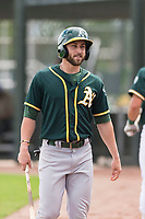 Oakland Athletics designated hitter Dustin Fowler (37) during an exhibition game against Team Italy at Lew Wolff Training Complex on October 3, 2018 in Mesa, Arizona. (Zachary Lucy/Four Seam Images)